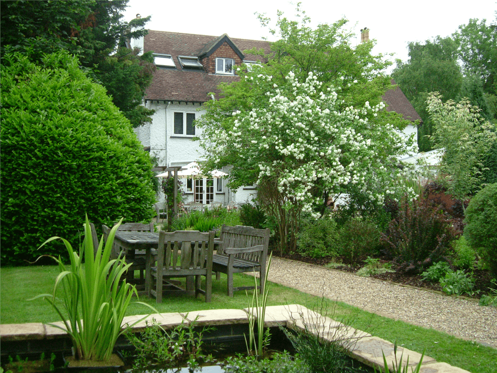 Cottage Garden with Pond