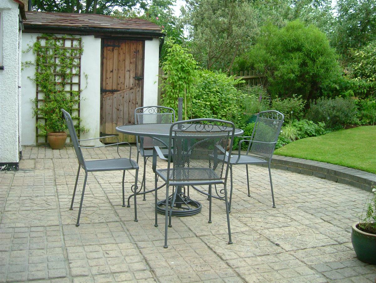 Patio with seating
