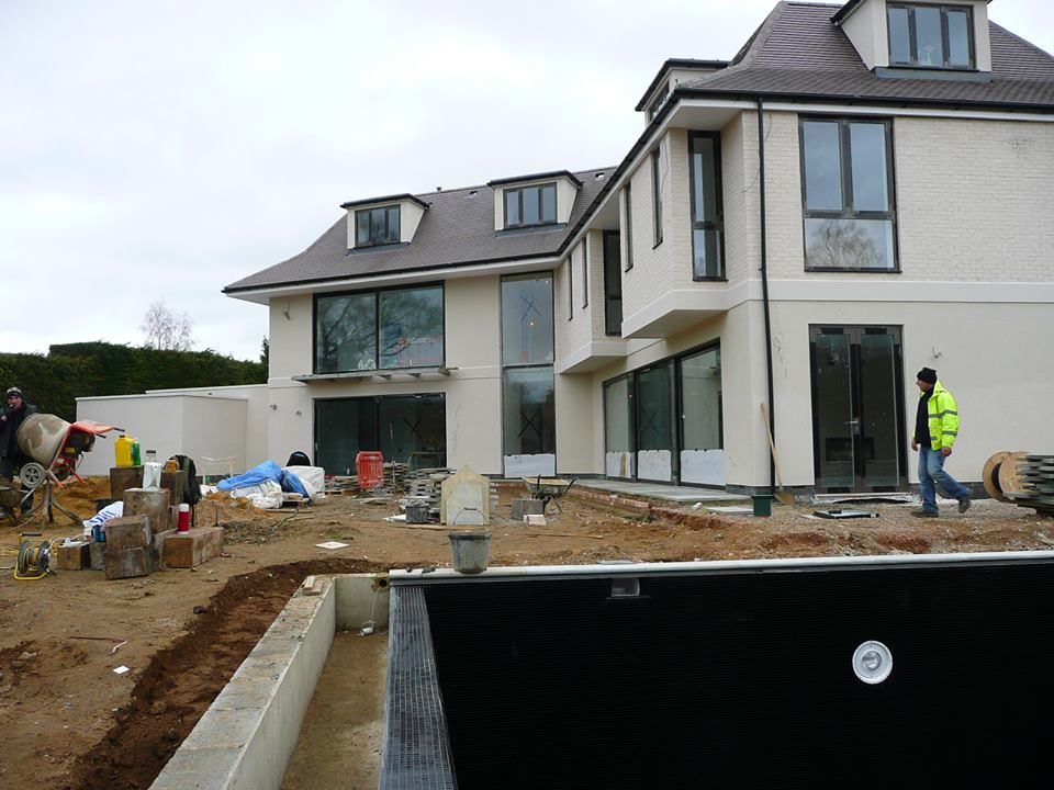 Construction of a large residential development