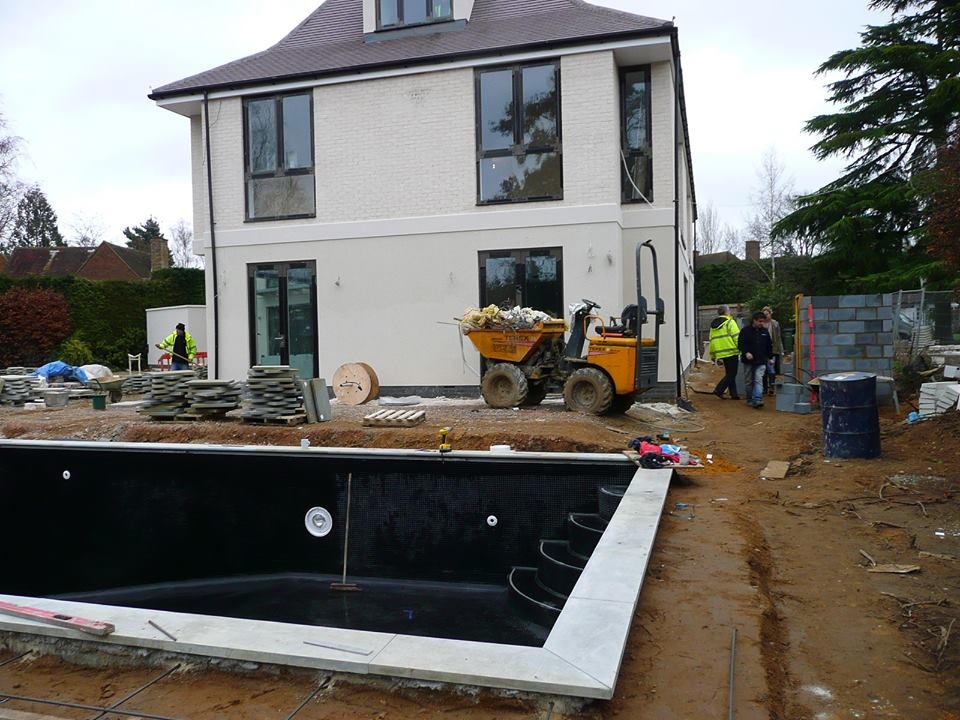 Pool under constuction